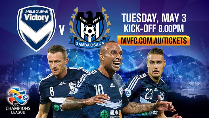 Melbourne Victory and Gamba Osaka will meet at Melbourne Rectangular Stadium.