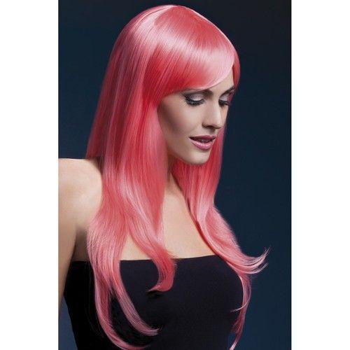 Koraal is een vrolijke en opvallende kleur voor de warme dagen. Hoe leuk zou het zijn als jij ook een keer deze kleur tijdelijk uit kon proberen? Met de lange pruik van Fever met zijscheiding is dit mogelijk. De pruik heeft prachtige koraalkleurige haren met een lengte van 66cm. In het haar zijn lagen aangebracht voor een speels effect, maar uiteraard kun je het haar ook knippen zoals jij dat graag wilt. http://www.vinley.nl/pruiken/Lange-Pruik-Fever-Koraal