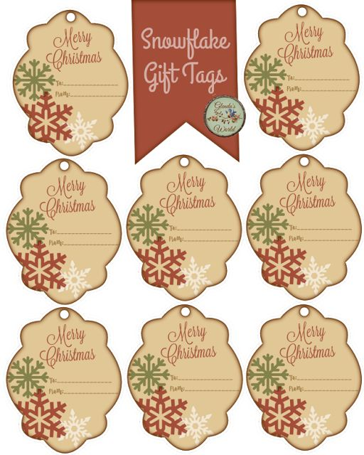 Christmas with Glenda: Snowflake Gift Tags