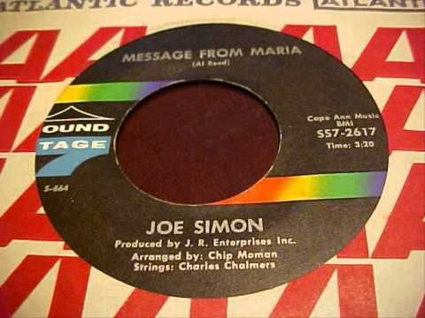 JOE SIMON ~ MESSAGE FROM MARIA