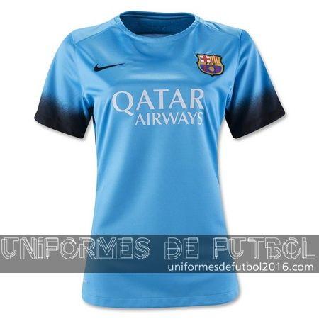 Venta de Jersey tercera para uniformes de futbol para mujeres Barcelona 2015-16