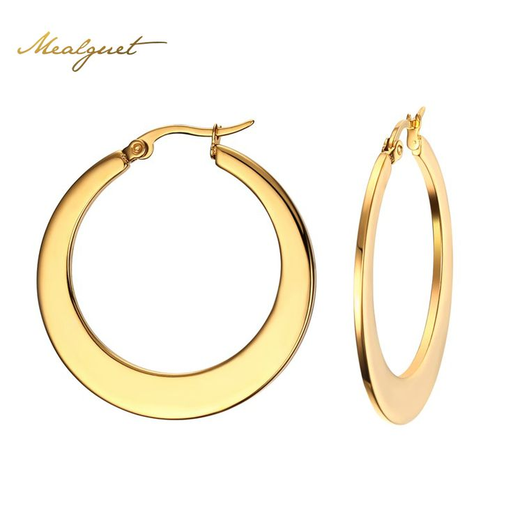 Meaeguet Big Circle Classic Hoop Earrings Gold Plated For Women Party Jewelry Trendy Round Earrings Ronda Grande Pendientes