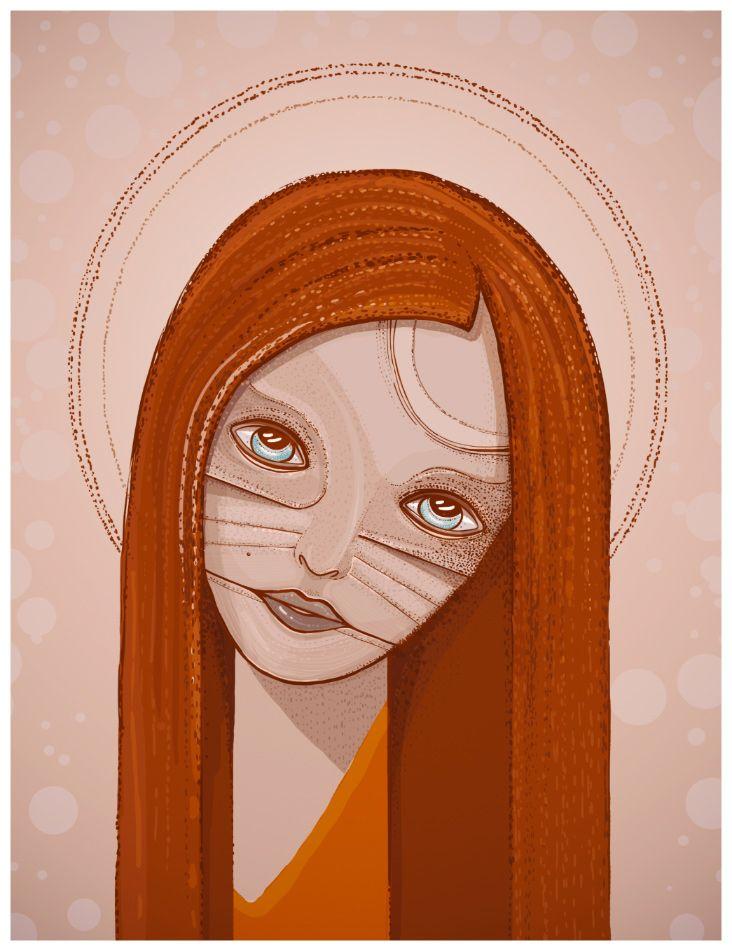 post-orthodox icon #illustration #girl #poster