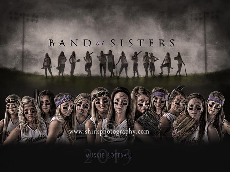 Muskie Softball - Band of Sisters. a cool softball team composite