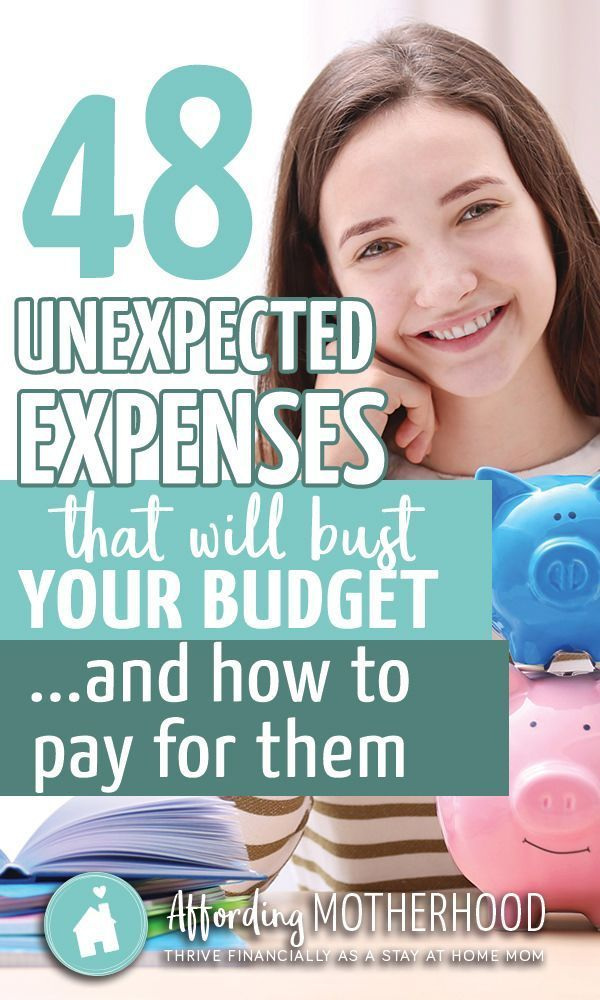 48 Unexpected Expenses that will Bust Your Budget...and how to pay for them - You make a family budget. It looks great on paper and then...real life happens. Try this simple tip for how to plan ahead for unexpected expenses - so you can stress less and su