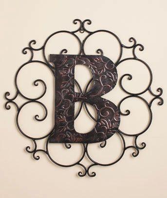 """B"" Monogram Wall Hangings -- Lakeside Collection"