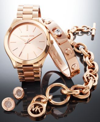 Michael Kors Rose Gold-Tone Gift Set