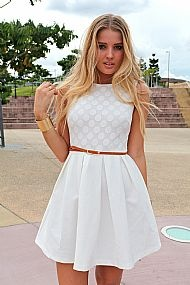 Cute white dress for summer | My Style