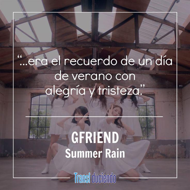 """¡Hola! Este es el tercer sencillo de GFRIEND este año, una vez más recurren al concepto inocente que las ha caracterizado y que han logrado perfeccionar. Sin duda un grupo lleno de talento. """"Summer Rain"""" de estas maravillosas chicas está traducido aquí para que lo disfrutes:  https://goo.gl/quUndj #GFRIEND #SummerRain #Rainbow #KPop  ¿Qué tal te parece este concepto? ¿Prefieres el concepto que utilizaron en """"Fingertip""""?"""