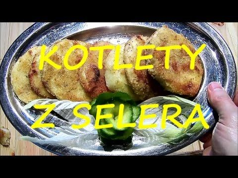 Wegetariański przepis jak zrobić usmażyć kotlety z selera na obiad śniadanie kolacje - YouTube