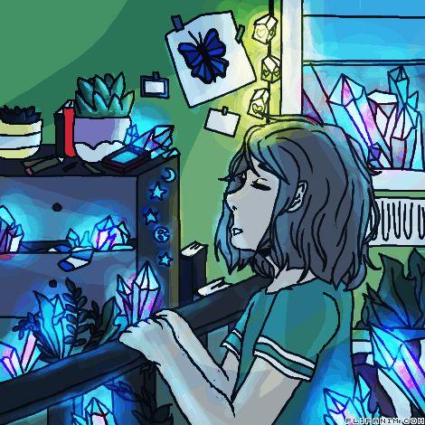 Crystal by ShadowEyes #gif #anim #animation #flipanim #flipbook #drawing #draw