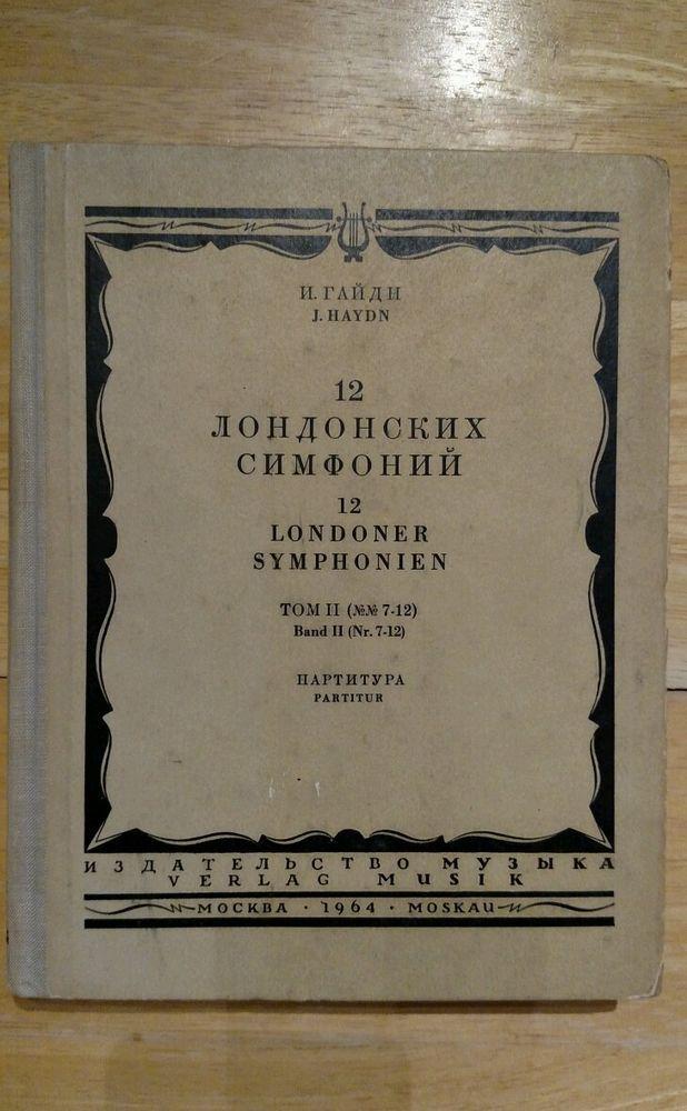Joseph Haydn London symphonies Volume II NN 7-12 sheet music