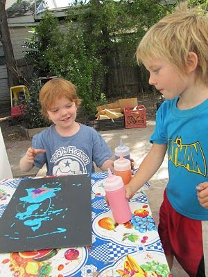 so gonna try this for myself : D  Get your mess on!: Puffy PaintArt Projects For 4 Years Old, Diy Puffy, Kids Projects, Puffy Painting, Diy Painting, Autistic Sons, Kreativ Resources, Kids Fun, 1 Years Old Art Projects