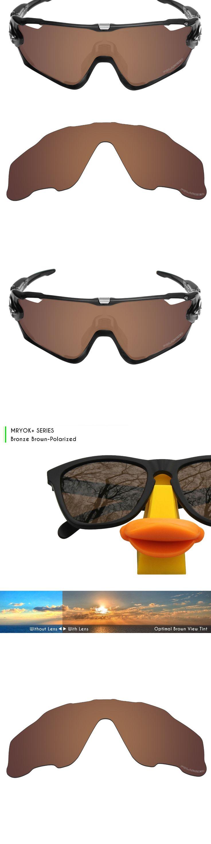 Mryok+ POLARIZED Resist SeaWater Replacement Lenses for Oakley Jawbreaker Sunglasses Bronze Brown