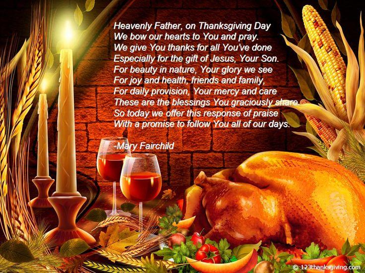 Thanksgiving Prayers Blessings | ... Thanksgiving Day Dinner Prayers for Families | Thanksgiving 2013