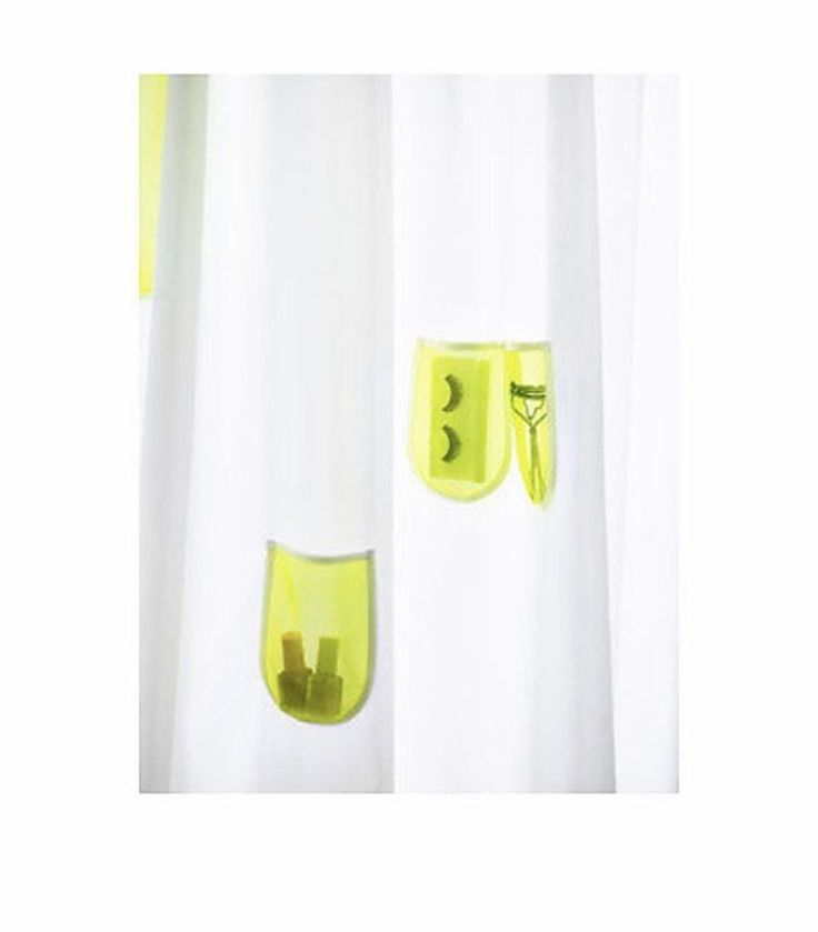 "IKEA Children Shower Curtain SPRUTT White Yellow Perfect Kids Bathroom 71 x 71""  | eBay"