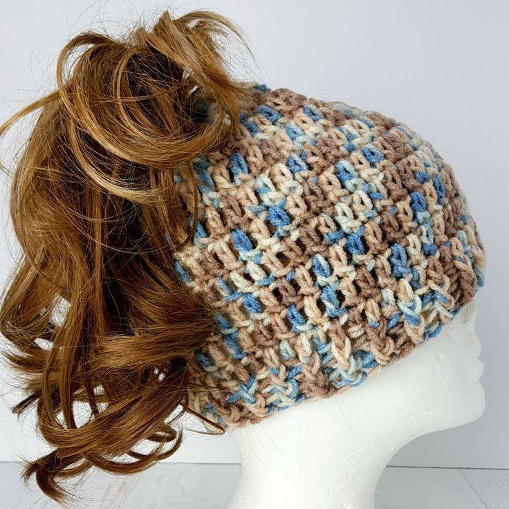 23 Free Messy Bun Hat Crochet Patterns - Make a Ponytail Beanie