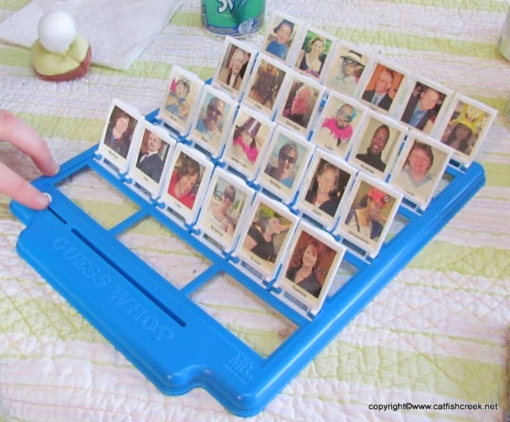DIY Family Guess Who. So fun! I always loved this game when I was younger. What a cute idea!