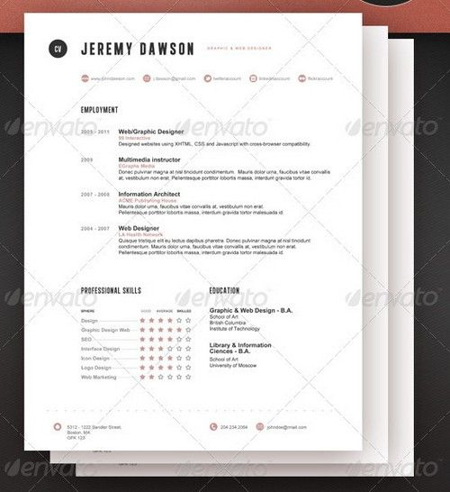 The 25+ best Latex resume template ideas on Pinterest Latex - web designer resume template