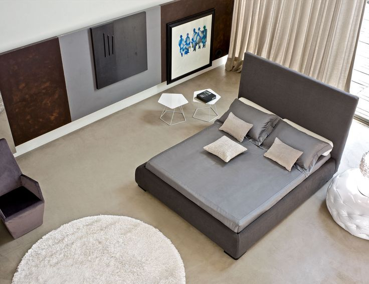 A High Version Of The Popular Bloom Bed By Bonaldo Alto Has Luxurious Metre Headboard Simple Elegant Design