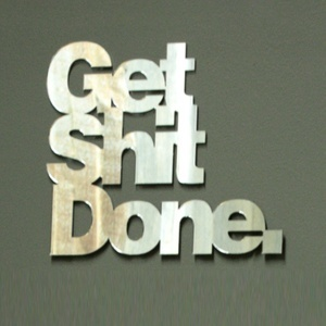 future home office gadgets. Get Shit Done Wall Art Mirror From Vinca Future Home Office Gadgets