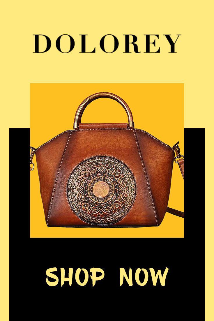 Pre Sale Genuine Leather Embossing Totem Elegant Handbag Bags