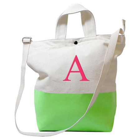 Personalized Olivia Tote in Kiwi (more colors): Cute gift