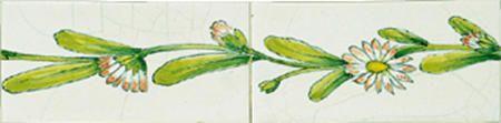 Randdecors worden gebruikt voor het sfeervol afwerken van tegelwanden zoals bijvoorbeeld bij lambrisering of voor de omlijsting van tegeltableaus. - € 16,50
