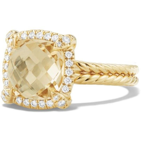 david yurman chatelaine pave bezel ring with champagne citrine and