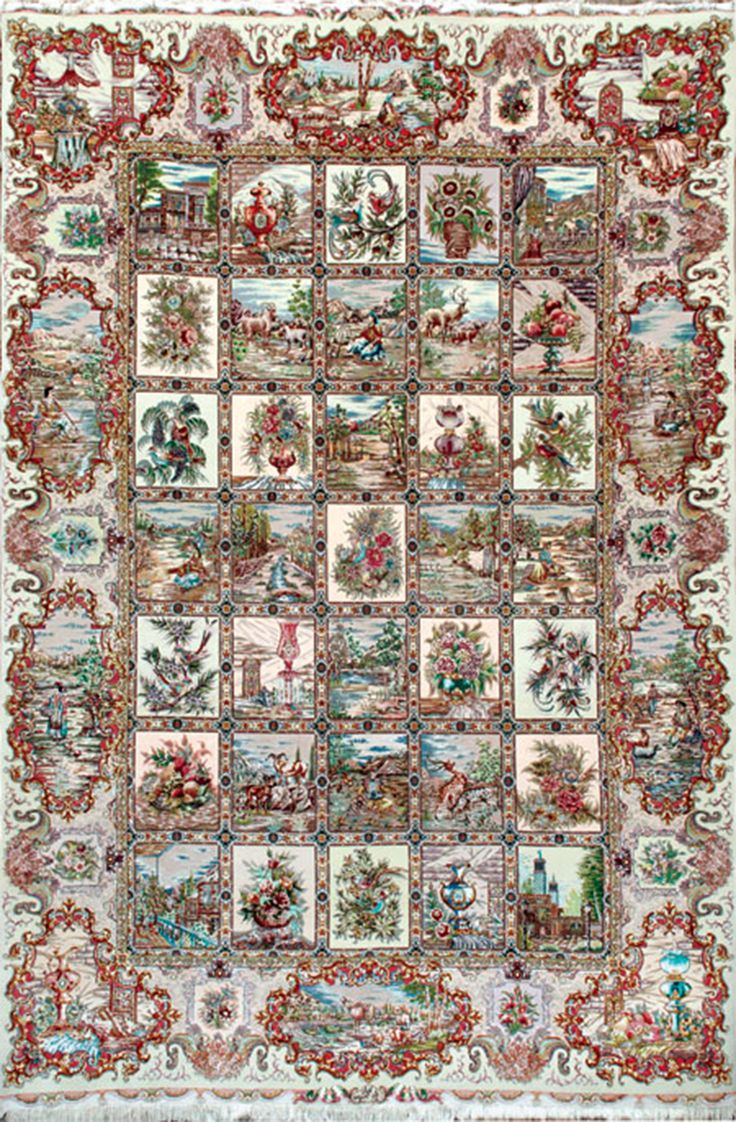 Four Season Tabriz Silk Persian Rug | Exclusive Collection Of Rugs And  Tableau Rugs   Treasure
