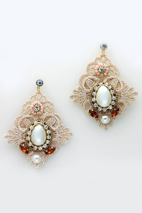 Embroidered Valencia Earrings