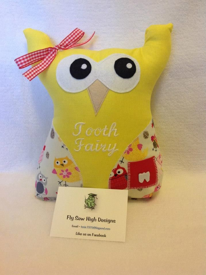 Handmade by Fly Sew High Designs. This gorgeous Tooth Fairy Owl