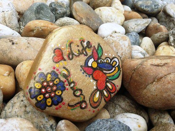 Inspirational rock painting-Love Life-Hand painted stone art-paperweight-birthday-friendship gift