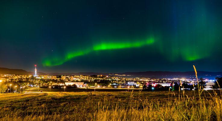 Nordlys (aurora), over Trondheim by Aziz Nasuti on 500px