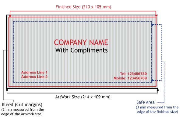 Compliments Slips Printings of 100 gsm Online at Fotosnipe