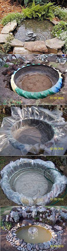 ¿Cómo hacer un estanque decorativo de neumáticos viejos ..