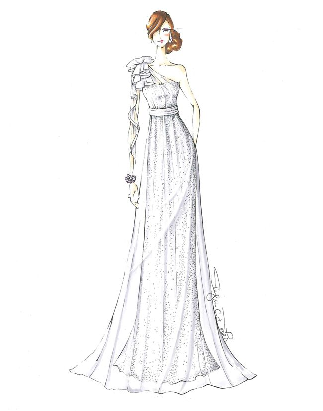 Wedding Dress Illustrations / Ruche Blog by Shy Davis