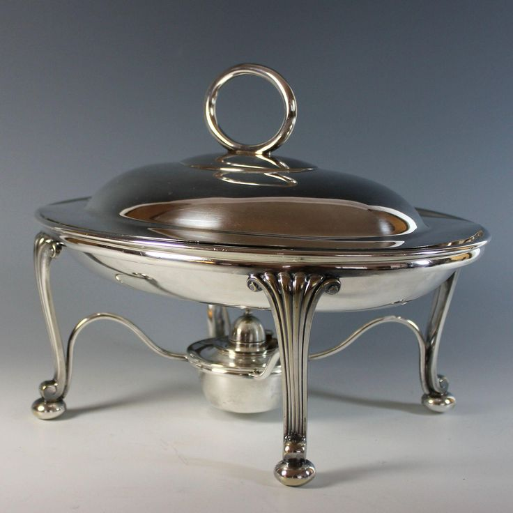 William Hutton Amp Son Silver Plate Chafing Dish Sheffield