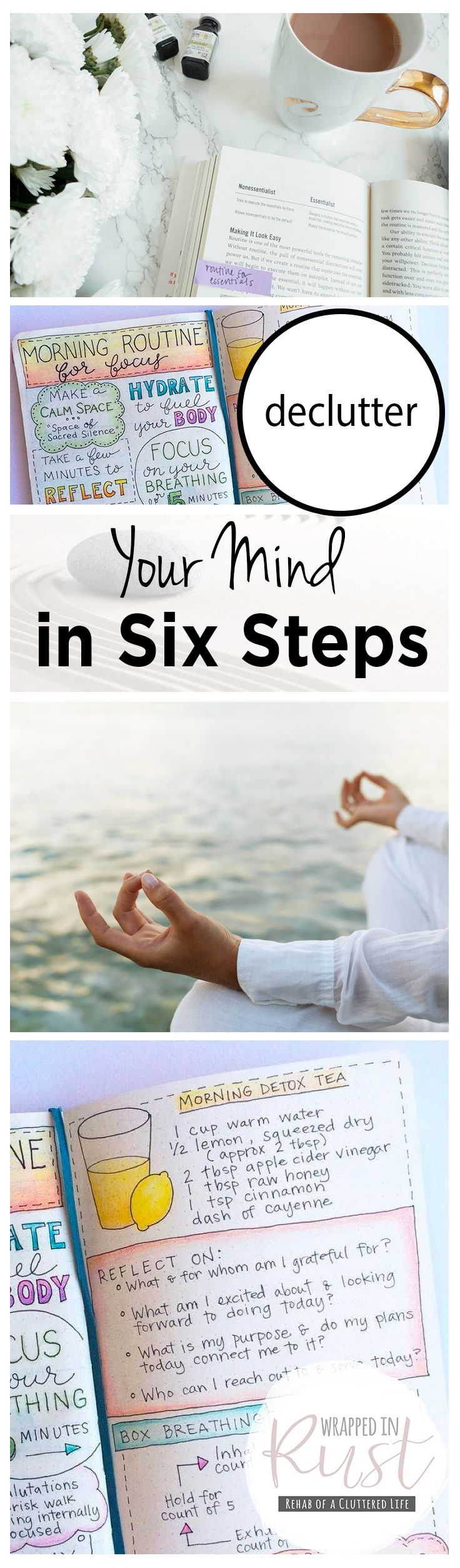 Declutter Your Mind in Six Steps| Declutter Your Mind, Declutter Your Life, Cleaning Tips and Tricks, Clean Your Life, How to Clean and Organize Your Life, Organization Tips and Tricks, Popular Pin