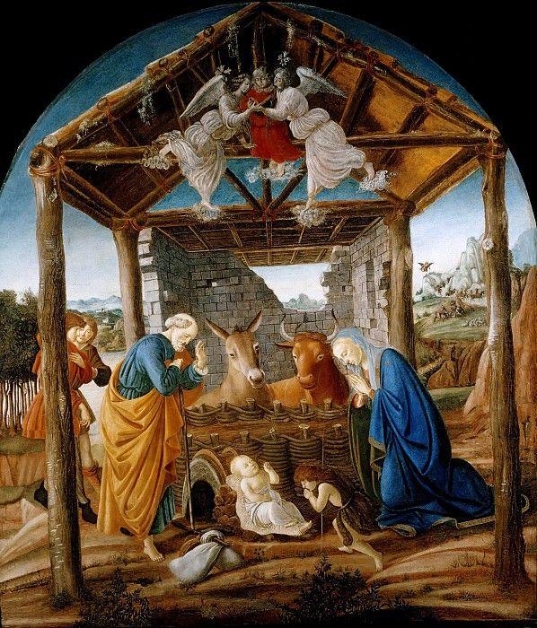 Рождество. Сандро Боттичелли Художественный музей, Колумбия, Южная Каролина (Museum of Art, Columbia). ок1475. 161х137