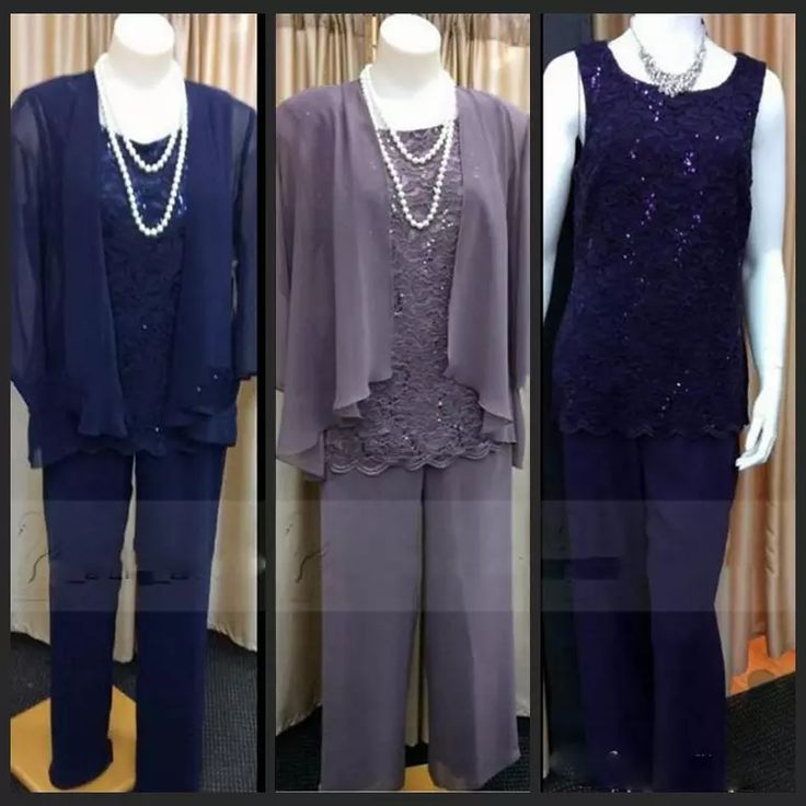 Lace Three Pieces Mother Of The Bride Suits For Wedding Party With Long Jacket Jewel Neck Mother'S Pant Formal Pant Suit Purple Navy Blue Mathar Son Mother Of The Groom Suit From Partydresses, $108.85| Dhgate.Com