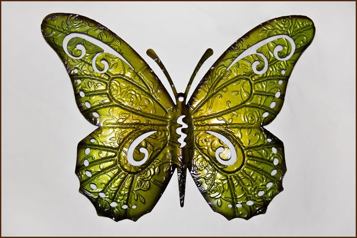 Garden and Home Decor Shop Butterfly Green  35x1x44cm