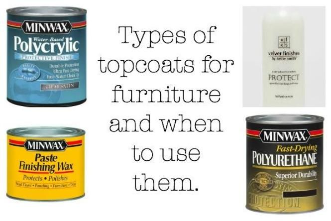 For the first few pieces of painted furniture I did, I had no idea what a topcoat was or that I was supposed to use one to seal and protect furniture.