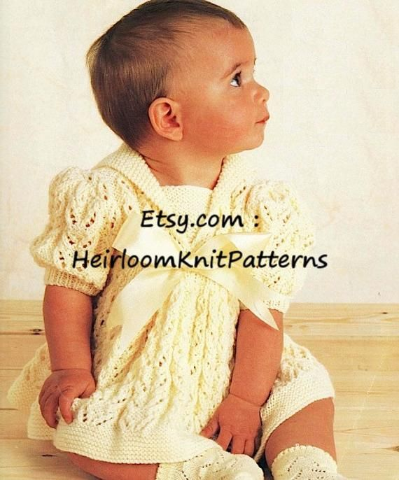 Baby Girls Dress Knitting Pattern 16-22/'/' 811