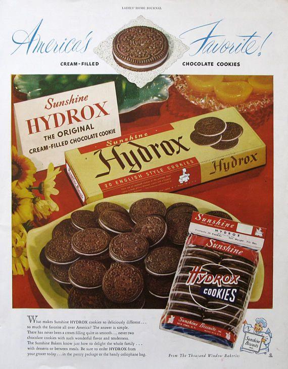 1948 Sunshine Hydrox Cookies Ad | #RetroReveries