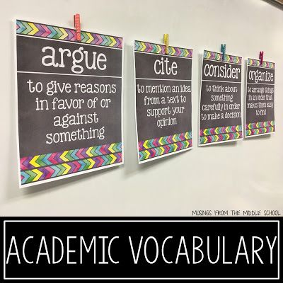 Musings from the Middle School: Academic Vocabulary