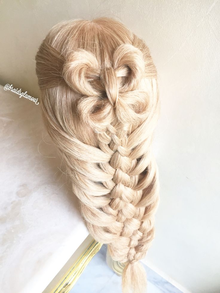 A butterfly and five strand mermaid braid