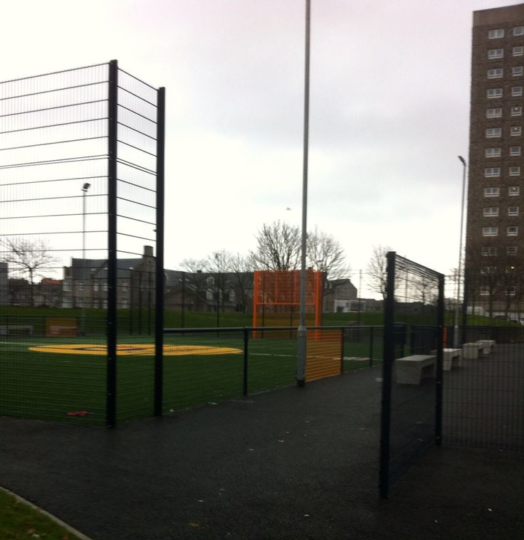 11/3/17-Catherine Street Court. The newly opened Cruyff Court Denis Law Urban sports project designed to encourage sport in inner city areas. This was the first purpose built project of its kind in Aberdeen.