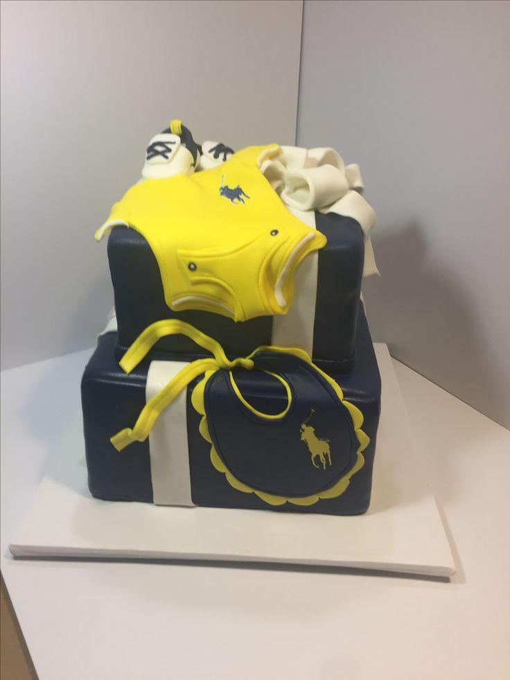 Ralph Lauren Polo Baby Shower Cake