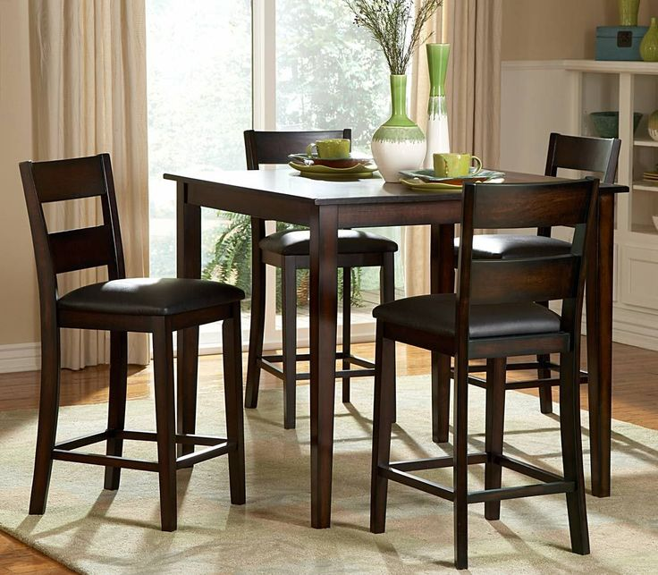 The transitional design of the Ethan Collection allows for versatile placement in a number of casual dining settings. The wide slat back chairs feature ... & Best 25+ Tall kitchen table ideas on Pinterest | Tall table High ... islam-shia.org